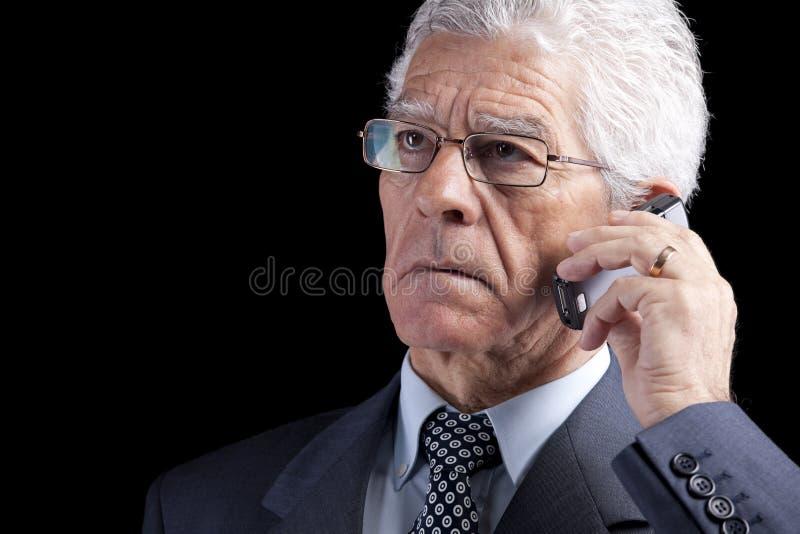 生意人移动电话高级联系 图库摄影