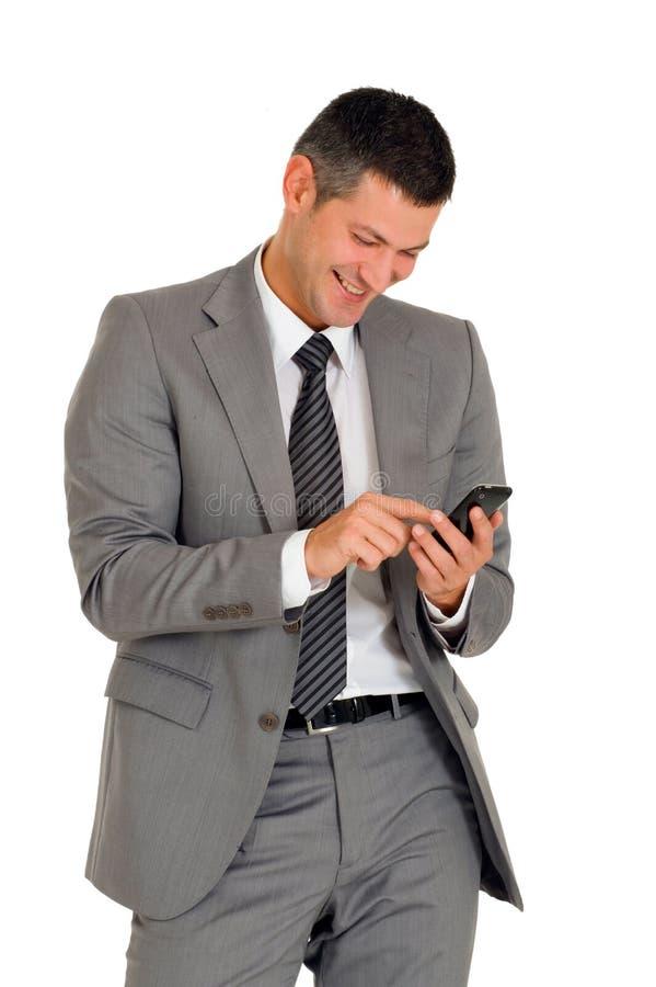 生意人移动电话 免版税库存照片