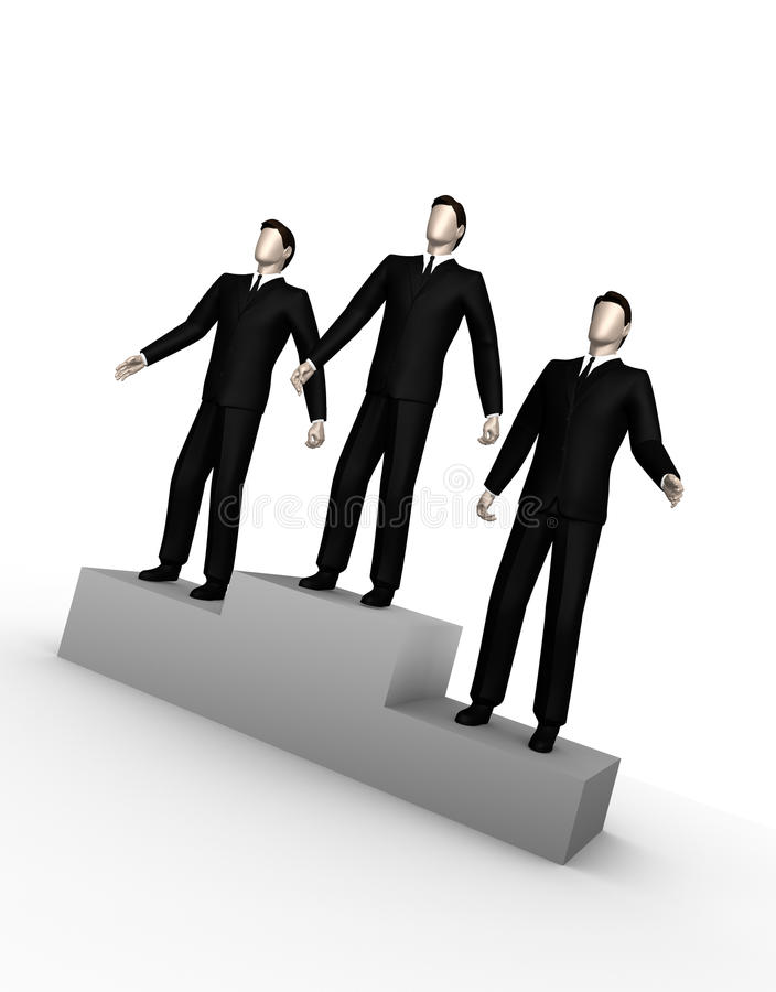 生意人立场三 免版税图库摄影