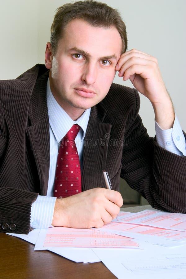 生意人纵向年轻人 免版税库存图片