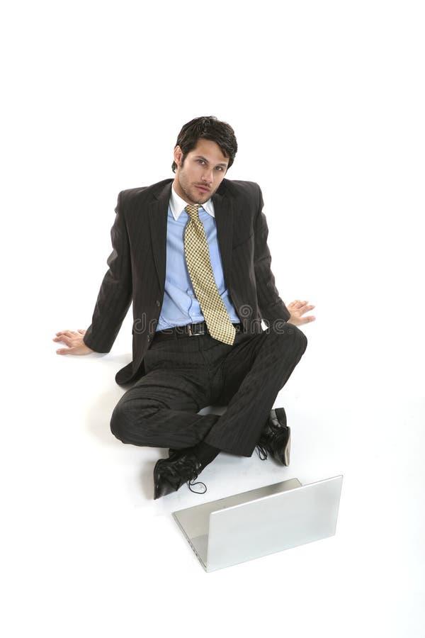 生意人纵向 免版税库存照片