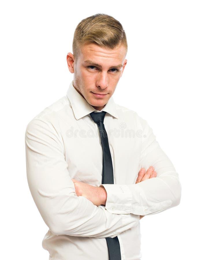 生意人聪明的年轻人 免版税库存图片