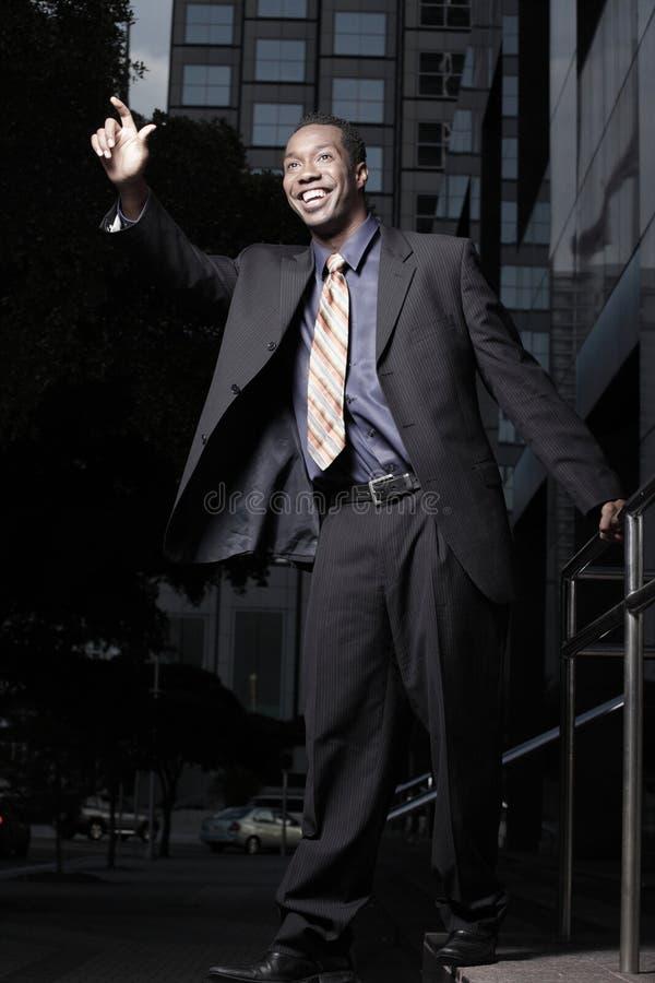 生意人英俊微笑 免版税图库摄影