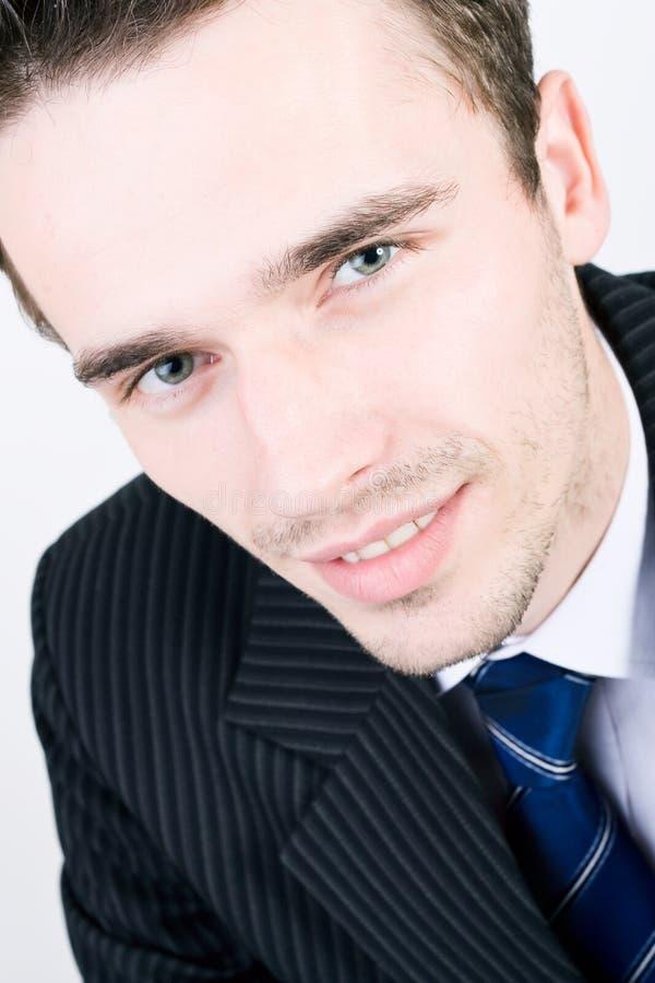 生意人英俊的headshot肖象年轻人 免版税库存图片
