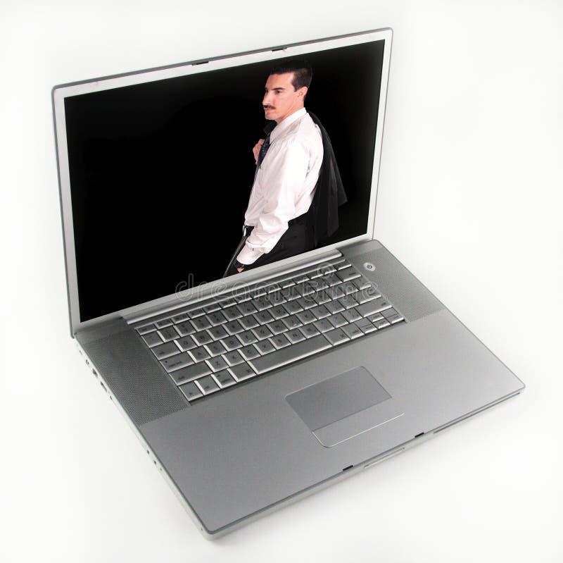 生意人计算机图象膝上型计算机 免版税库存图片
