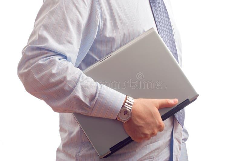 生意人计算机藏品膝上型计算机 库存照片