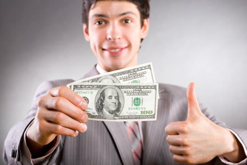 生意人货币 库存照片