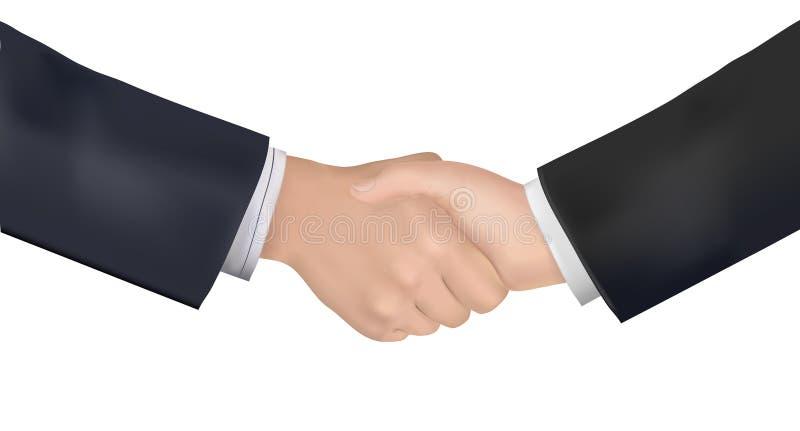 生意人递震动配合的合作伙伴 向量例证