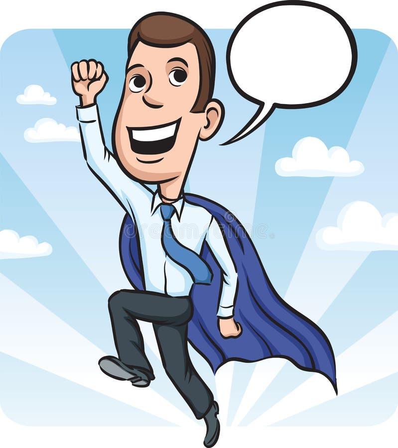 生意人飞行英雄喜欢超级 皇族释放例证