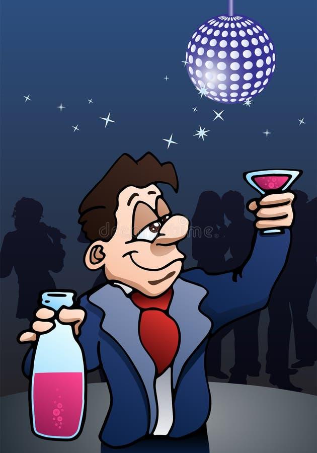生意人饮用的酒 库存例证