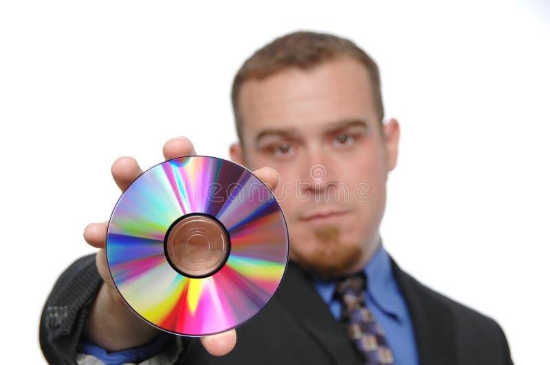 生意人CD的藏品 库存图片