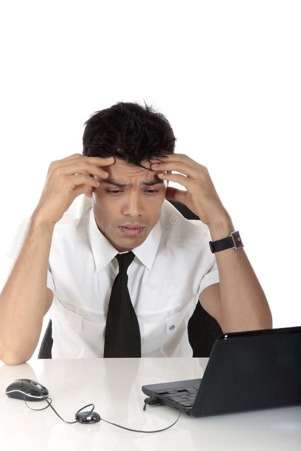 生意人nepalase担心的年轻人 免版税图库摄影