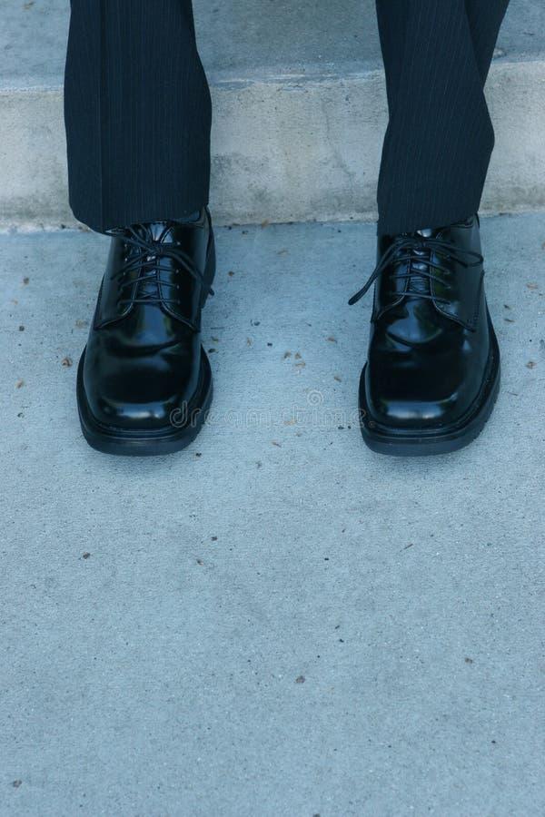 生意人s鞋子 库存照片