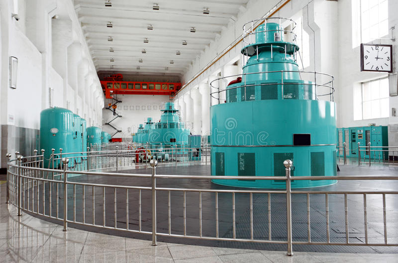 生成器涡轮水 库存图片