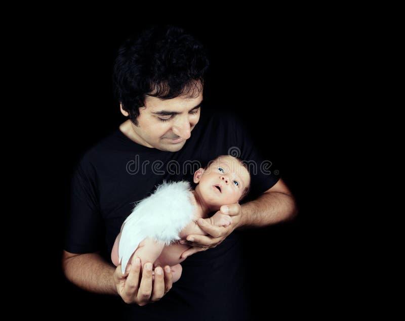 父亲和他的儿子 免版税库存照片
