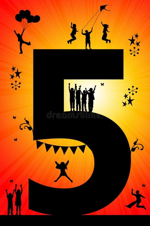 生日五 向量例证