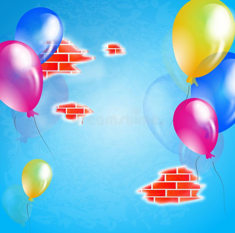 生日墙壁 皇族释放例证