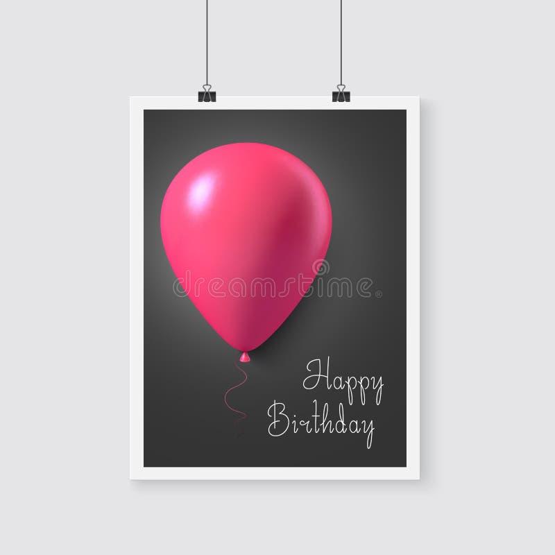 Download 生日快乐与气球的传染媒介海报 现实传染媒介 向量例证. 插画 包括有 愉快, 庆祝, 颜色, 五颜六色, 概念 - 62527904