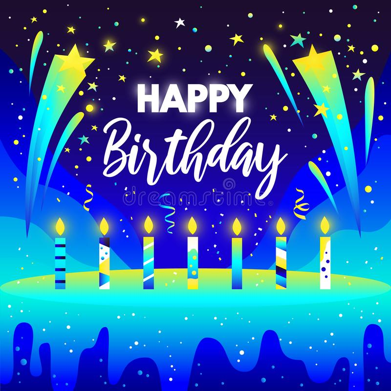 生日快乐传染媒介梯度设计 免版税图库摄影
