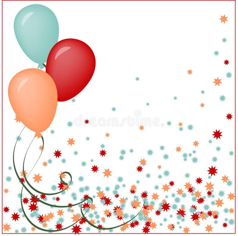 生日快乐卡片的传染媒介例证 向量例证