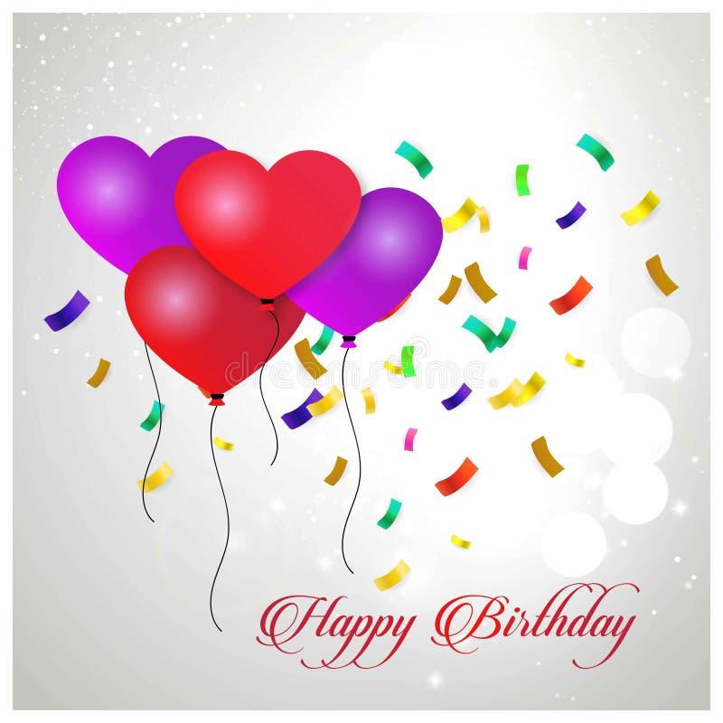 生日快乐印刷术贺卡和p的传染媒介设计 皇族释放例证