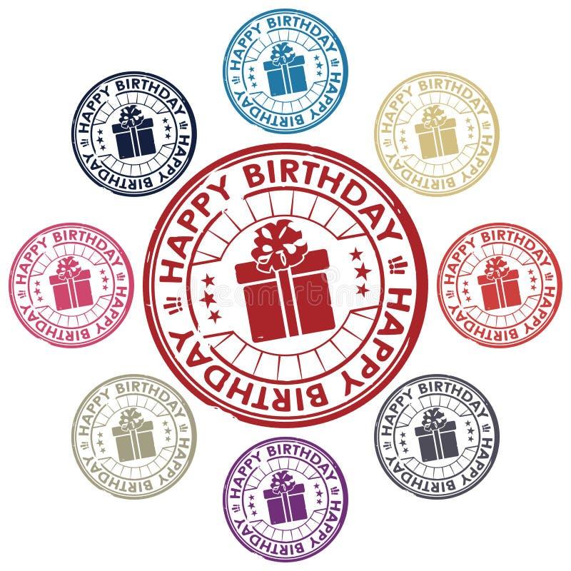 生日快乐套印花税 向量例证