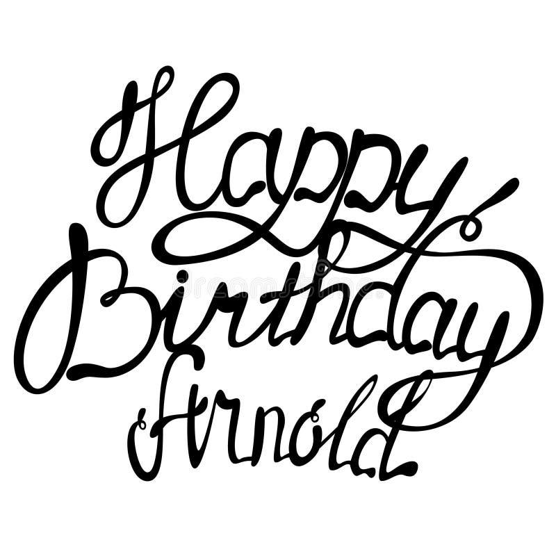 生日快乐阿诺德名字字法 皇族释放例证