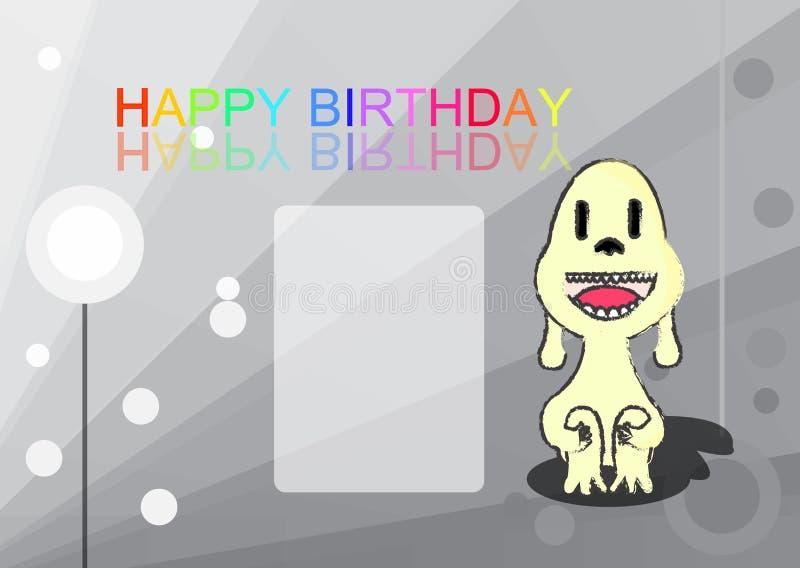 生日快乐,传染媒介以图例解释者 图库摄影