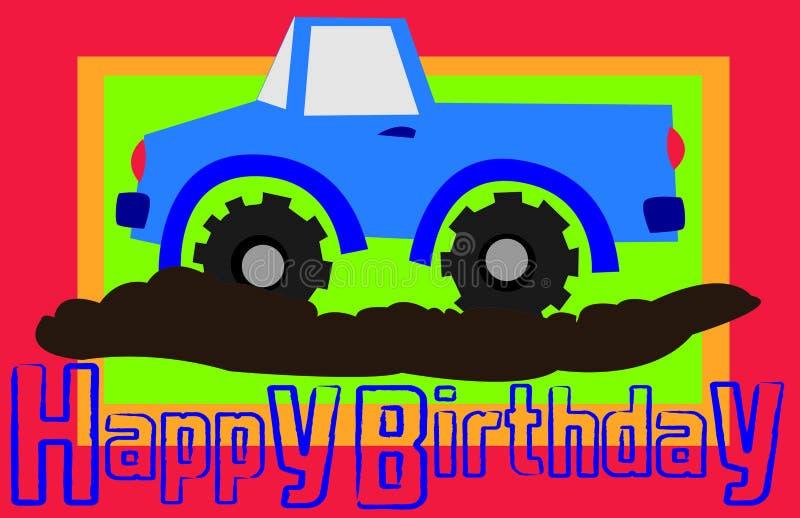 生日愉快的卡车 图库摄影