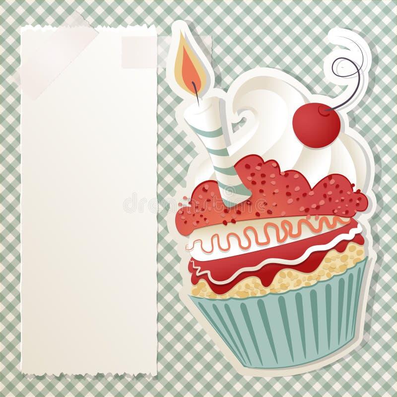 生日杯形蛋糕 皇族释放例证