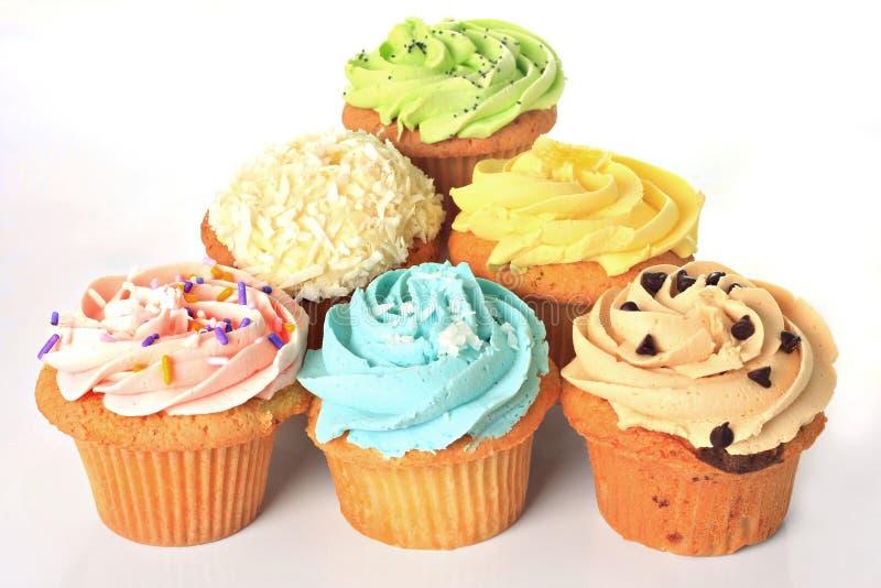 生日杯形蛋糕 图库摄影