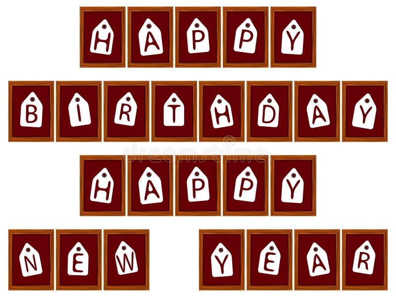 Download 生日构成新年好 向量例证. 插画 包括有 符号, 抽象, grunge, 看板卡, 例证, 形状, 橙色 - 22352712