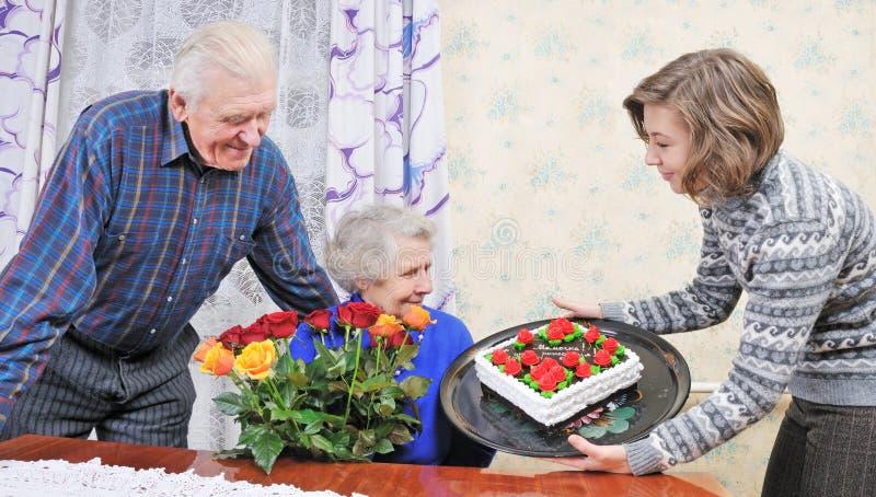 生日祖母 库存图片