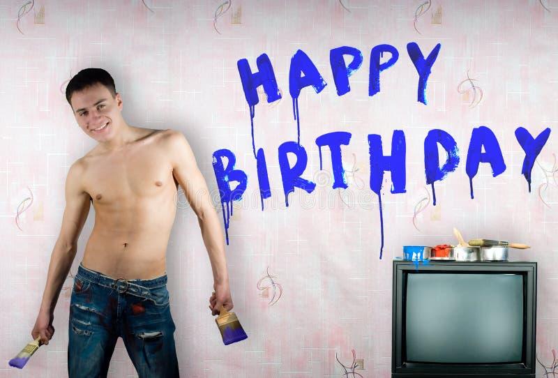 生日祝贺 库存照片