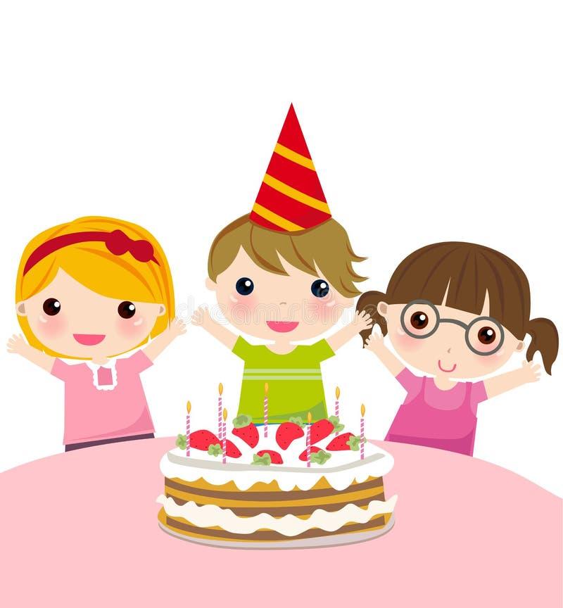 生日聚会 向量例证