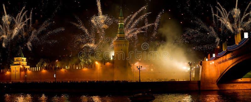 生日节假日莫斯科 免版税图库摄影