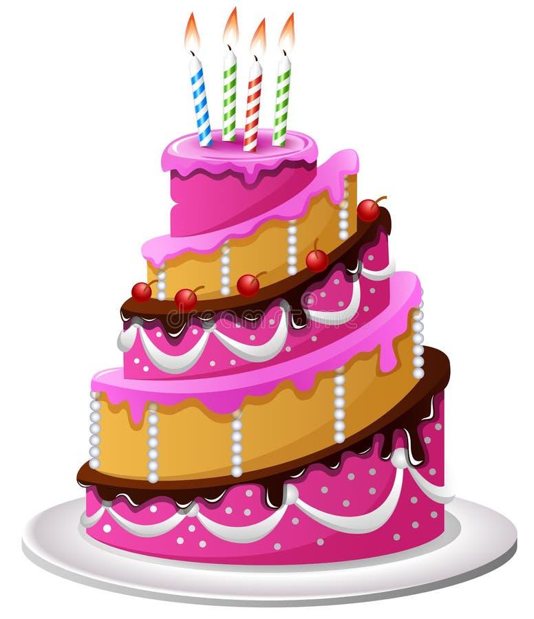 生日蛋糕动画片 库存例证