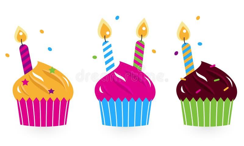 生日蛋糕收集 向量例证