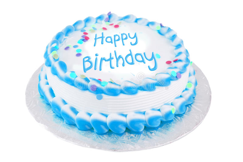 生日蛋糕欢乐愉快 库存照片