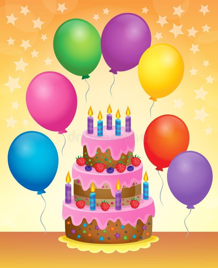 生日蛋糕题材图象6 向量例证