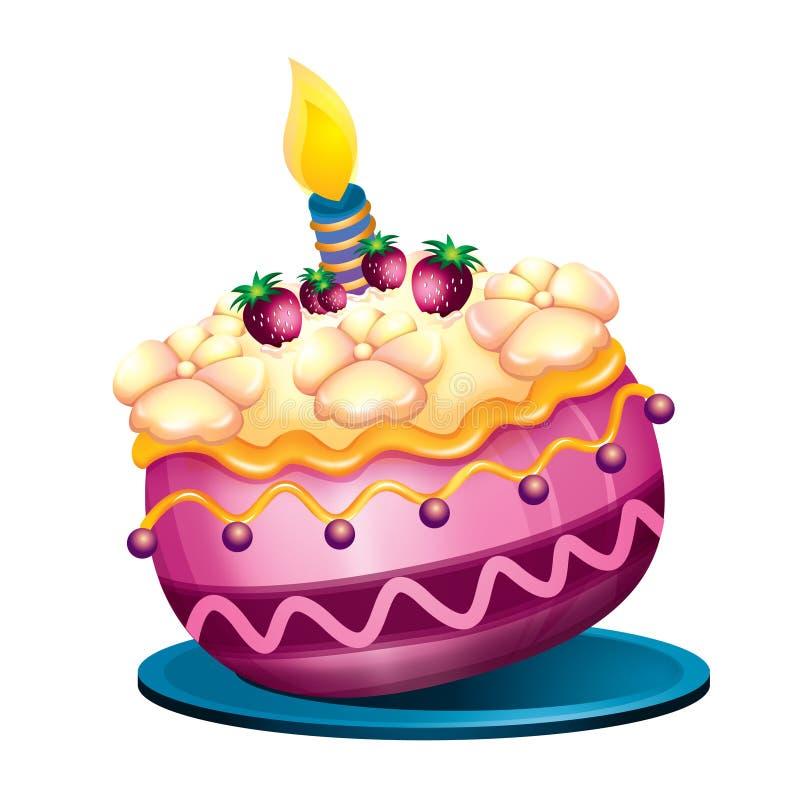 生日蛋糕 皇族释放例证