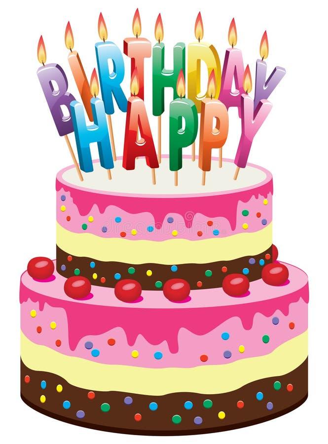 生日蛋糕 向量例证 插画 包括有 蓝色 点心 熔化 装饰 设计 生日 图画 龙舌兰 庆祝
