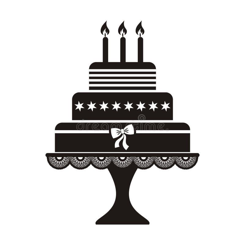 生日蛋糕 库存例证