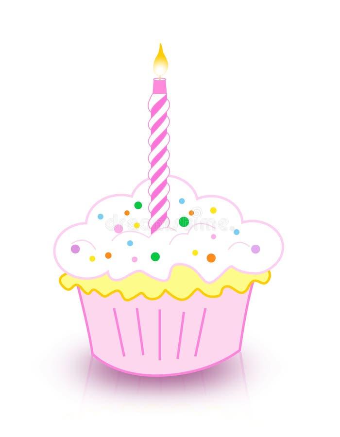 生日蛋糕 向量例证
