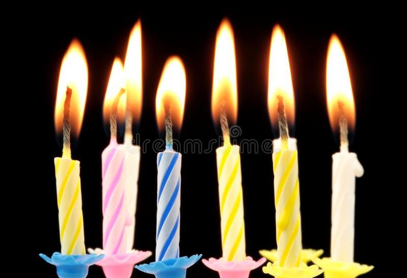 生日蜡烛。 免版税图库摄影