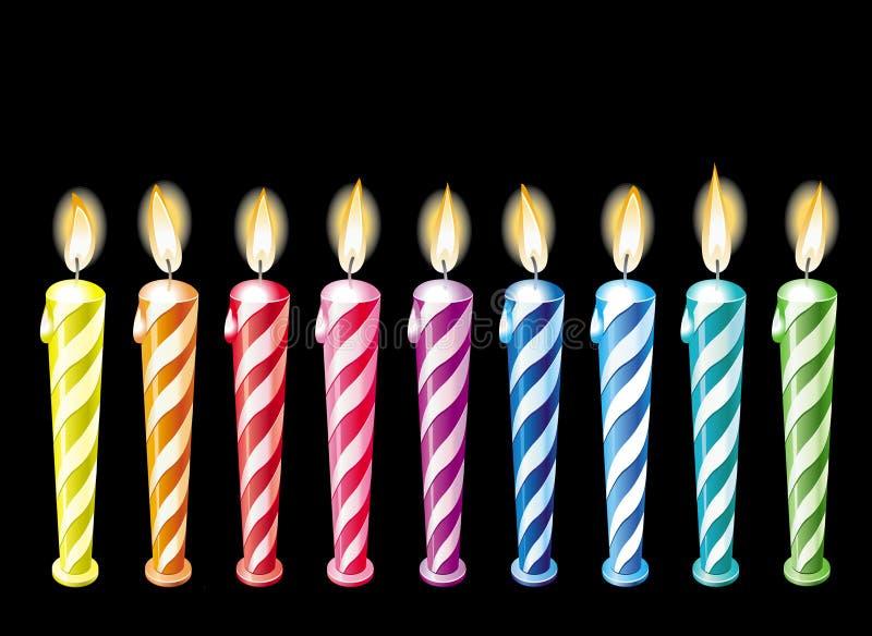 生日蜡烛 皇族释放例证