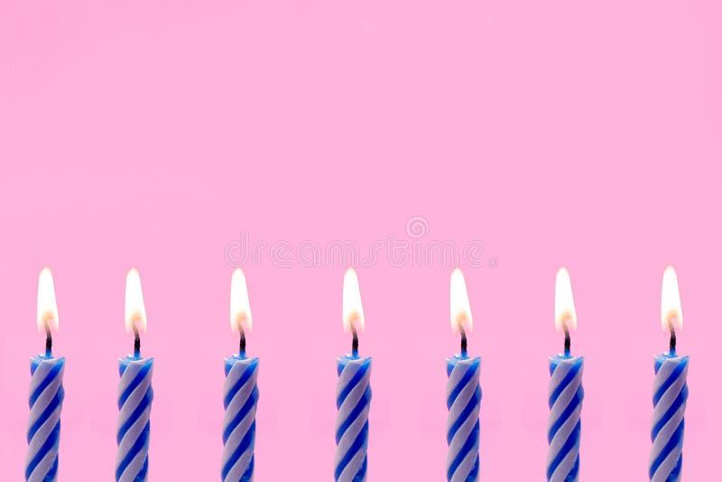 生日边界蜡烛 库存图片