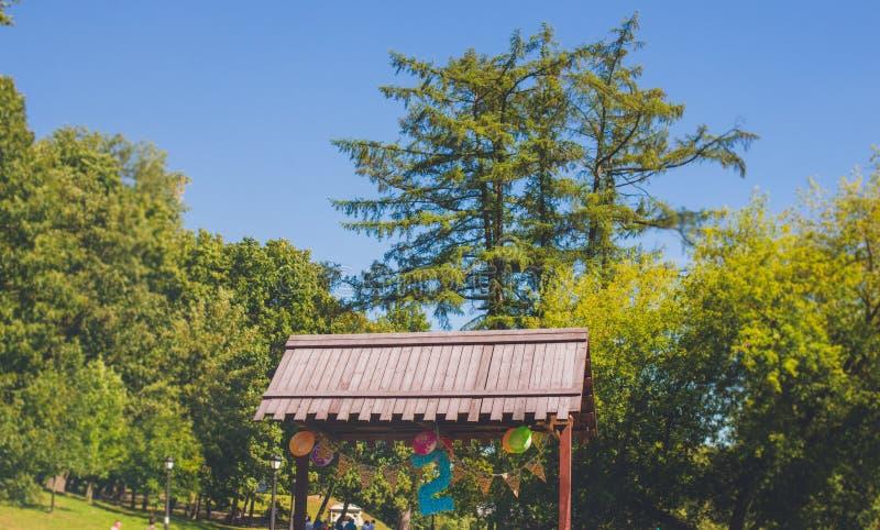 生日迅速增加与第二在城市公园 库存图片
