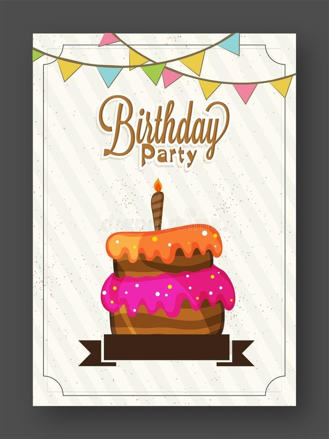 生日邀请或贺卡 库存例证