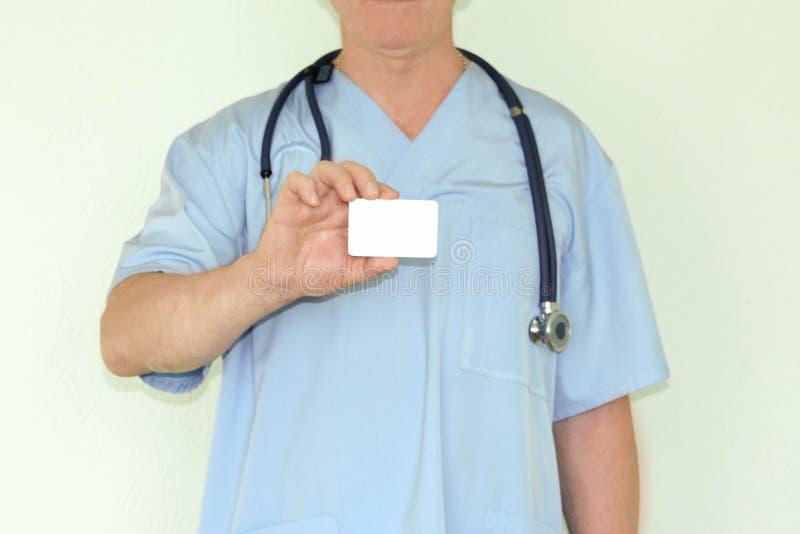医生概念医学 看板卡在手中 免版税图库摄影